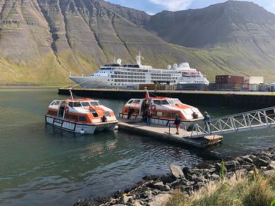 Sloepen van onze boot