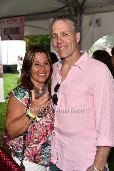 Fran Tonon and Jeff Tonon attend Dan's Rose' Soiree at the Southampton Arts Center in Southampon on May 28, 2017.