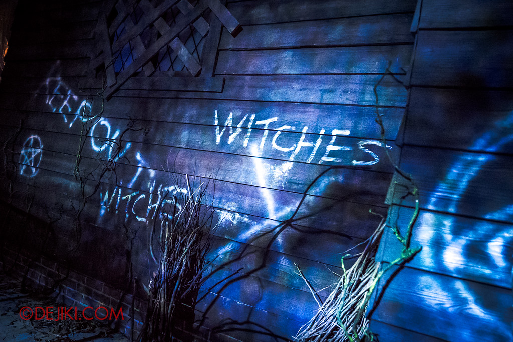 Halloween Horror Nights 6 - Salem Witch House / Vandalised panels