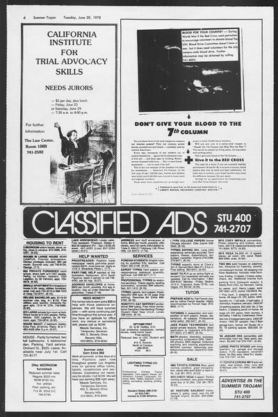 Summer Trojan, Vol. 74, No. 3, June 20, 1978