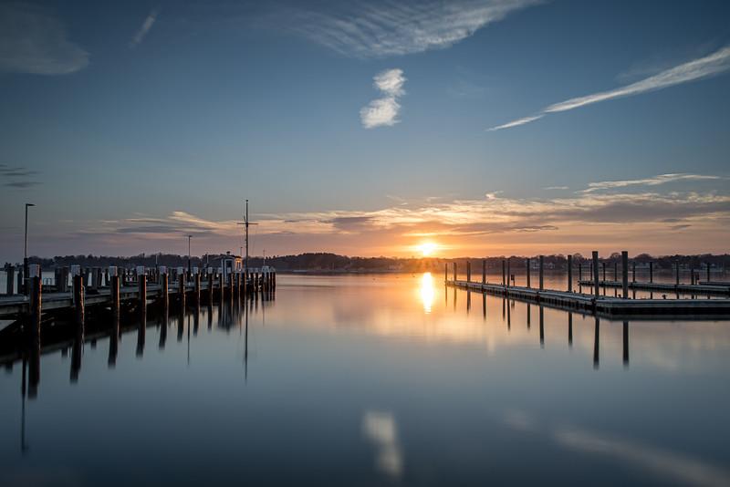 Winter Harbor Sunset