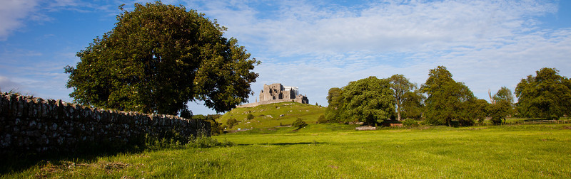 Rock of Cashel as seen from the abby ruins