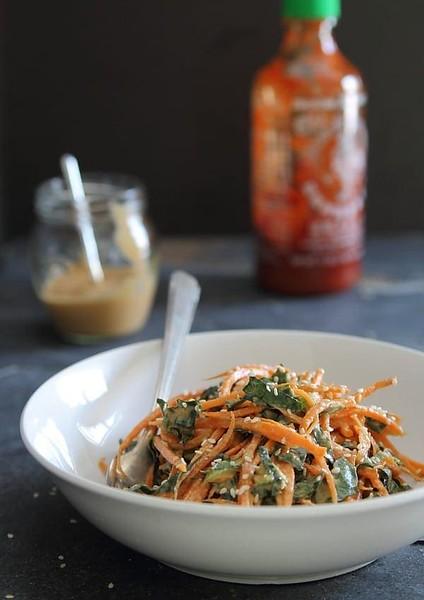 Vegan Thai recipes - Spicy Thai Carrot and Kale Salad