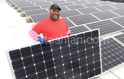 Solar Panel Installation at the Firestone Plant - May 29, 2013