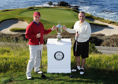 Friday Twosomes with US Open Trophy