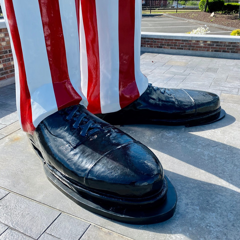The World's Tallest Uncle Sam Shoes  in Danbury, Connecticut