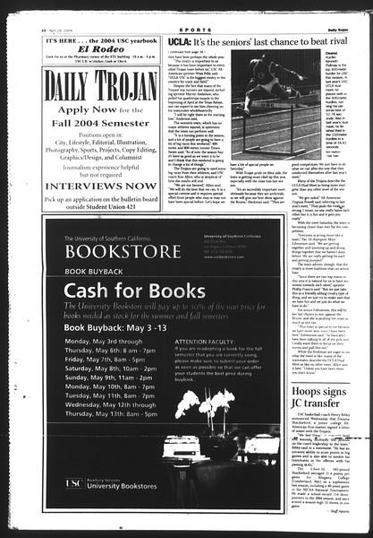 Daily Trojan, Vol. 151, No. 67, April 29, 2004