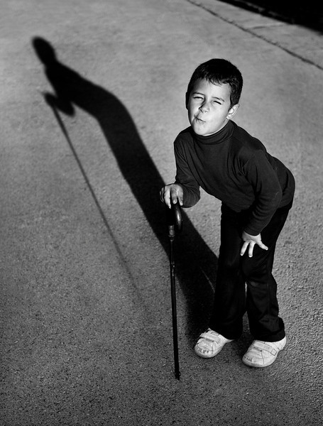 Boy at the small village of San Enrique de Guadiaro.   Andalucia, Spain, 2013.