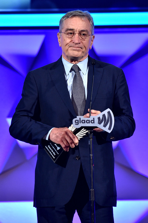 . Robert DeNiro speaks onstage during the 27th Annual GLAAD Media Awards at Waldorf Astoria Hotel in New York on May 14, 2016 in New York City.  (Photo by Dimitrios Kambouris/Getty Images for GLAAD)