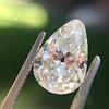 2.61ct Antique Pear Cut Diamond GIA I SI1 15
