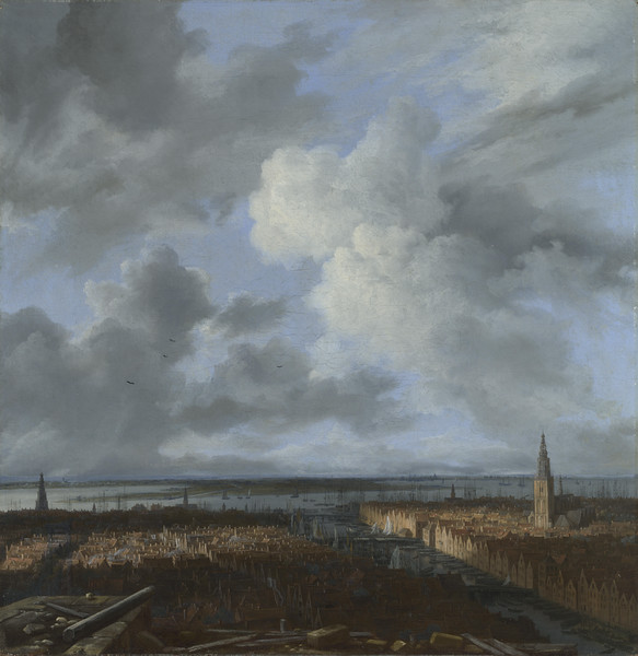 A Panoramic View of Amsterdam looking towards the IJ