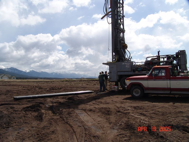 Western Water Works drilling our well. Ended up a little deeper than we planned for but we have all the water we could ever want. Oh Well!