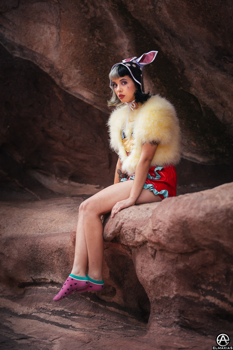 Backstage Portrait of Melanie Martinez at Red Rocks Amphitheater by Adam Elmakias