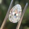 2.13ct Antique Pear Shape Diamond, GIA I, VS2 18