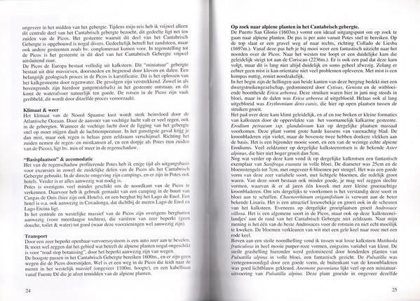 Rotsplanten in Noord-Spanje - Het Cantabrisch Gebergte en de Picos de Europa, NRW Nieuwsbrief 51, May 1998, Kees Jan van Zwienen