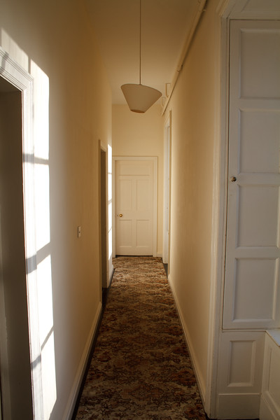 The hallway in the Castle Hacket House.
