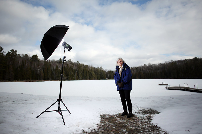Former Supreme Court of Canada Chief Justice Beverley McLachlin pose for a portrait at her cottage.