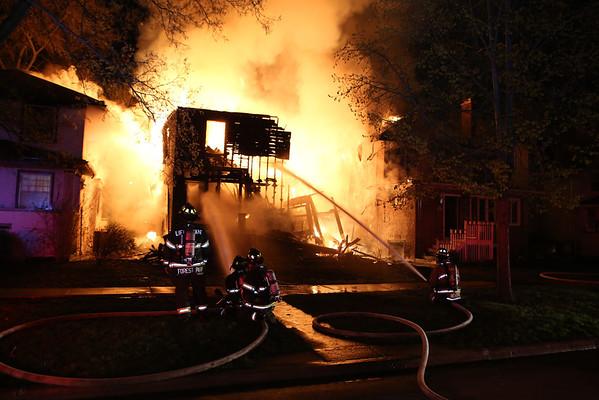 OAK PARK, IL CLINTON & JACKSON 3 DWELLINGS ON FIRE RED / 2ND SHIFT (05-04-2014)