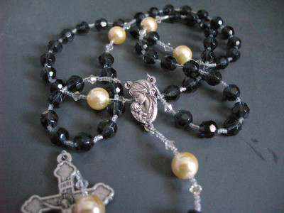 st. ann festival rosary with tahitian pearls