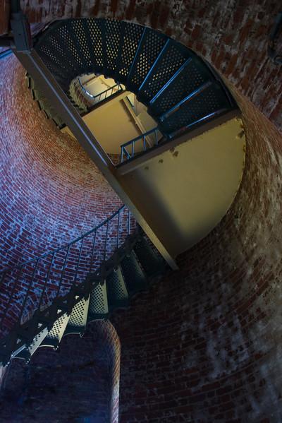 Inside Cape Blanco Lighthouse Oregon