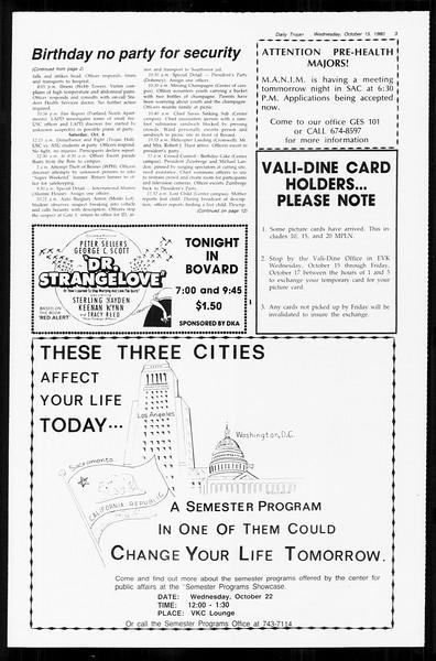 Daily Trojan, Vol. 89, No. 22, October 15, 1980