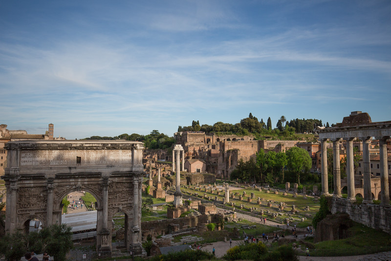 Overview of part of the Roman Forum.