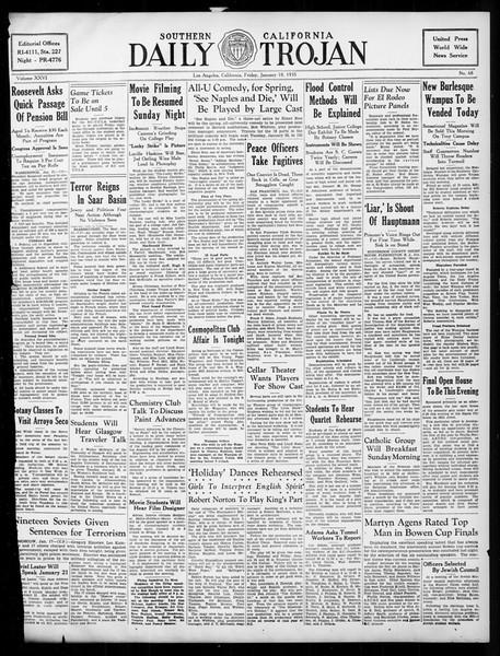 Daily Trojan, Vol. 26, No. 68, January 18, 1935