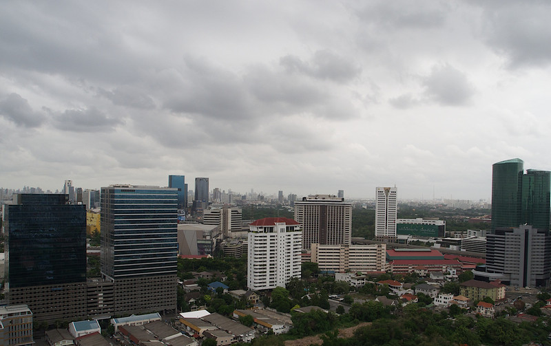 Lazy afternoon,  the sky over Bangkok is threatening rain