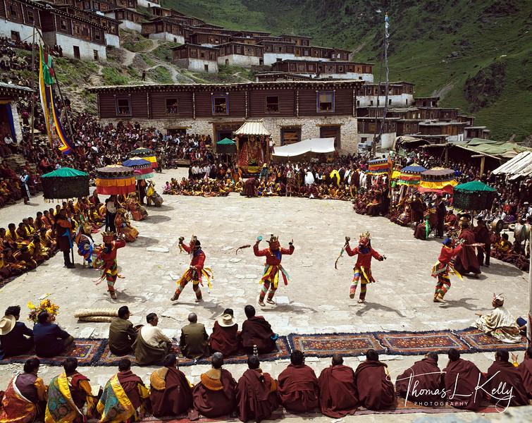 Cham dance at Katok monastery. Tibet