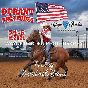 Durant PRCA Rodeo 2021 - Friday Bareback