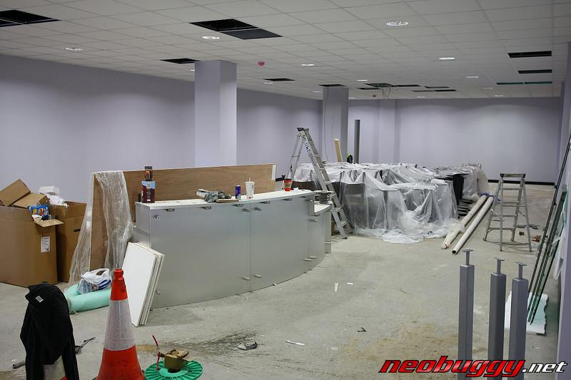 The on site shop under construction