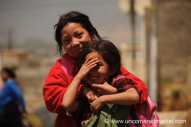 Guatemalan School Girls - Totonicapan, Guatemala
