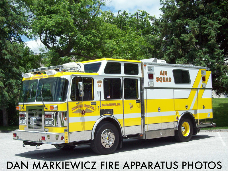 RESCUE FIRE CO. DALLASTOWN AIR 35 1992 SPARTAN/SAULSBURY AIR LIGHT UNIT
