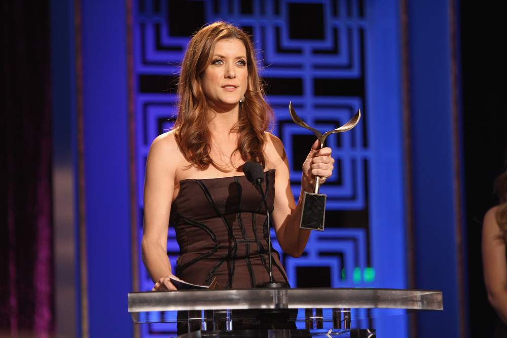 Description of . Actress Kate Walsh speaks onstage during the 2013 WGAw Writers Guild Awards at JW Marriott Los Angeles at L.A. LIVE on February 17, 2013 in Los Angeles, California.  (Photo by Maury Phillips/Getty Images for WGAw)