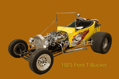Yellow 1923 Ford T Bucket Art Photographs