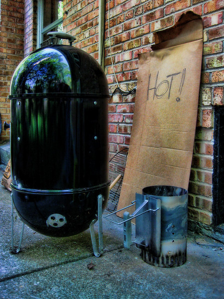 Our smoker has the air of the homeless.