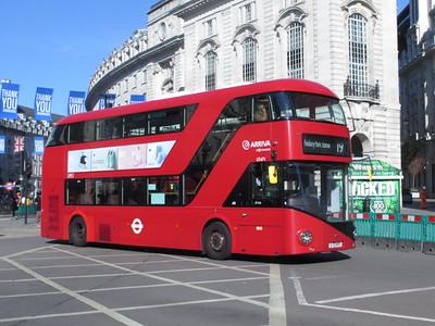 London buses Aug 2020 Corona Pandemic