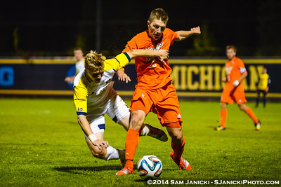 1st Half from UM Men's Soccer Vs BGSU 9-16-14