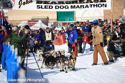 Day 1 - Start of the 2008 John Beargrease Sled Dog Marathon