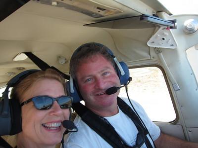 Mary Sue Miliken goes flying