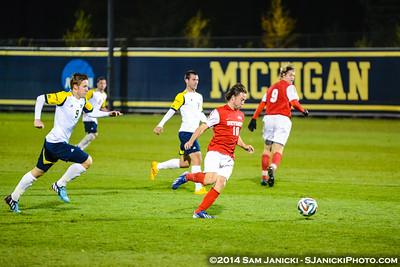 2nd Half from UM Men's Soccer Vs Detroit 10-21-14