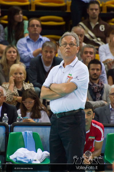 Julio Velasco [IRI] - Italia-Iran, World League 2013 - Modena