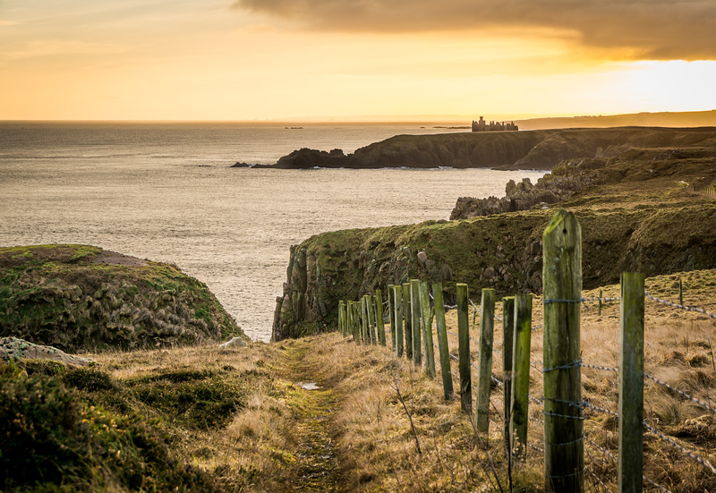 The One with Slains Castle