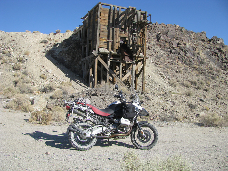 "Photo by ADVRider Brice ""longtallsally"" - his R1200GS Adventure somewhere in the  White Mountains of California.
