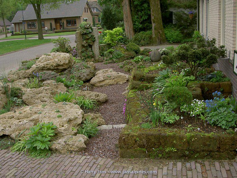 front garden & peat walls