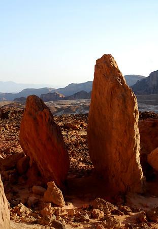 Eilat  Mountains - Timna - down Maale Bereh to mine shafts Jan 2009 Dan Ofri