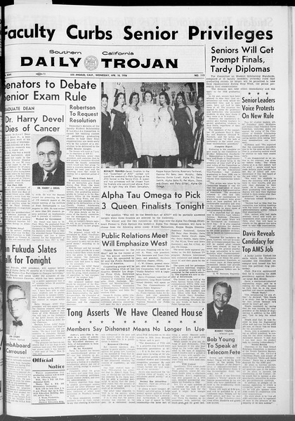 Daily Trojan, Vol. 47, No. 115, April 18, 1956