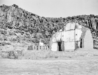 Fort Davis Texas in Classic Black and White