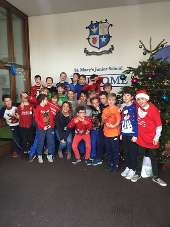 Christmas jumper day and our new rugby pitch :)
