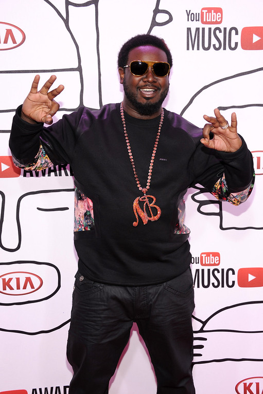 . Rapper T-Pain attends the YouTube Music Awards 2013 on November 3, 2013 in New York City.  (Photo by Dimitrios Kambouris/Getty Images)